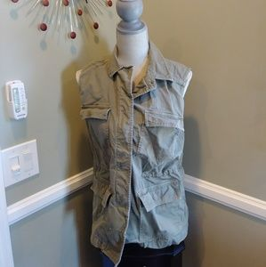 Madewell green oversized army vest sz small